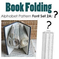 question mark book folding pattern alphabet font set 2