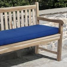Clara 60 inch Outdoor Blue Bench Cushion Made with Sunbrella