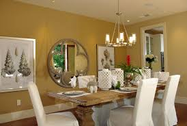 Contemporary Dining Room Wall Decor With Mirror Size Of Natual