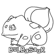 Small Picture Pokemon Bulbasaur coloring page
