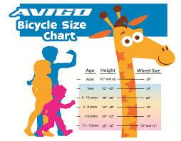 Complete Girls Bike Sizing Chart 2019