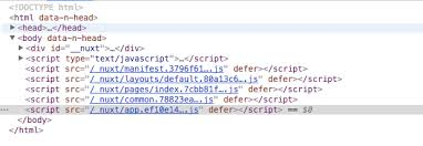 how to insert <script> tag before </body>? · Issue #2000 · nuxt ...