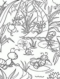 Small Picture Ants are Resting coloring page for kids summer coloring pages