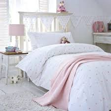 kids double duvet cover all over stars duvet cover design in pretty pink featuring embroidered stars