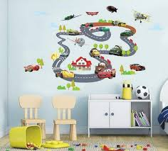car bus highway track wall stickers for
