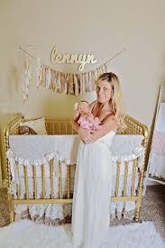 girly gold nursery