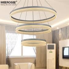 stunning modern circular chandelier led round chandelier modern acrylic lamp light for dinning room