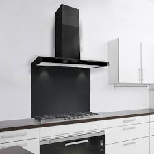 80cm slimline designer kitchen extractor in black