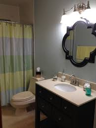 guest bathroom ideas. Fabulous Wall Lamps Illuminating Guest Bathroom Ideas With Simple Vanity And Mirror I