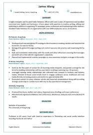 Examples Of Public Relations Resumes Resume Cv Sample For Public Relations Officer Jobsdb