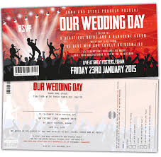 Concert Invite Template Concert Ticket Wedding Invitations Wedfest