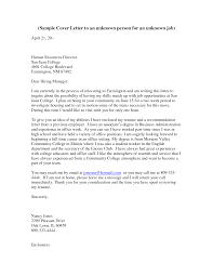 Cover Letter Unknown Recipient And Cvs Created Which Presents A