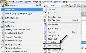 Viewing Xml File Xml Manager In Line Editing Of Xml Files