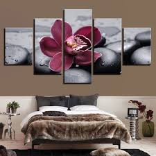 Modern Bedroom Wall Art Delectable Hd Screen Printing Painting Wall Art Portrait 48 Modular Panel Purple