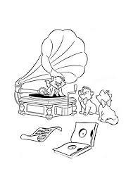 Aristokatten Muziek Luisteren Aristokatten Kleurplaten