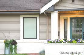 exterior window trim paint ideas. exterior front full house update tan cream trim window paint ideas w
