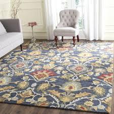 navy blue rug 8x10. Brilliant Safavieh Handmade Blossom Navy Blue Multi Wool Rug 8 X 10 Property Throughout Area Rugs 8x10