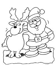 Kleurplaten Kerstman En Rendieren Kerst 2018