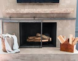 concrete fireplace remodel meets cozy chic fireplace makeovers fireplace ideasdiy