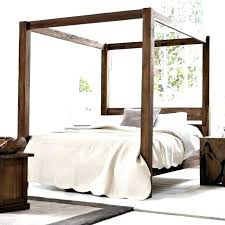 Wood Canopy Bed Frame Queen Canopy Bed Diy Wood Canopy Bed Frame ...