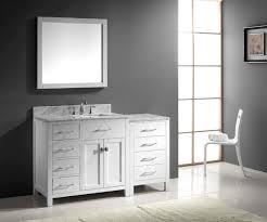 virtu usa ine parkway 57 single bathroom vanity set in white