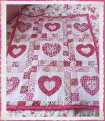 19 best cot quilt ideas images on Pinterest | Applique quilts ... & Country Hearts baby's cot quilt Adamdwight.com