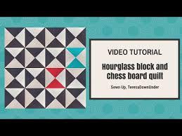 Quick and easy: Broken chess board free quilt pattern- hourglass ... & Quick and easy: Broken chess board free quilt pattern- hourglass block video  tutorial | Adamdwight.com