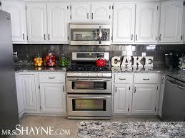 painted white oak kitchen cabinets