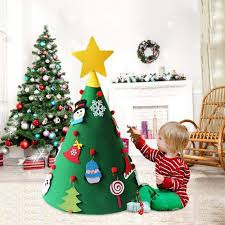 Rorchio <b>DIY Felt Christmas</b> Tree with 21pcs Ornaments 3D Fake ...