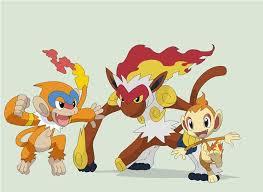Chimchar Monferno And Infernape Pokemon Pokemon Starters