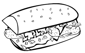 Fast Food Coloring Pages : Fast Food Breakfast Coloring Page Kids ...
