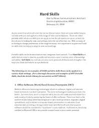Cover Letter Examples Of Resume Skills Examples Of Skills For A