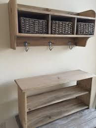 Rustic Coat Rack With Shelf Furniture Rustic Coat Rack Hall Tree Bench With Two Tier Shoe Shelf 40
