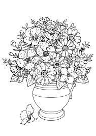 Disegno Da Colorare Vaso Con Fiori Cat 18649 Images
