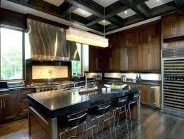 modern kitchen chandelier modern kitchen with rectangular crystal island chandelier chocolate brown kitchen cabinets kitchen island modern kitchen