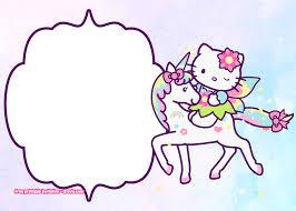 Free Hello Kitty Unicorn Birthday Invitation Template Free