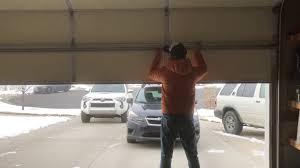 how to open a broken garage door broken spring