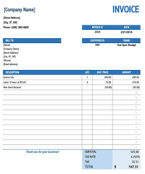 39+ Simple Invoice Template Excel Download Free Background