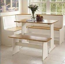 Breakfast Bar Nook Dining Set 5 Pc Seat Set Corner Bench Booth Pine NEW