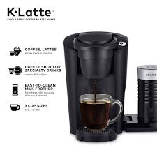 The best keurig cappuccino makers will let you prepare the most delicious coffee according to your own preferences. Keurig K Latte Single Serve K Cup Coffee And Latte Maker Black Walmart Com Walmart Com