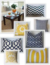 Yellow Color Schemes For Living Room Navy Yellow Color Scheme Cute Pillows Bedroom Make Over