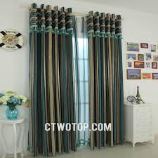 Striped Bedroom Curtains Black And White Striped Curtains Horizontal Blue Striped Curtains