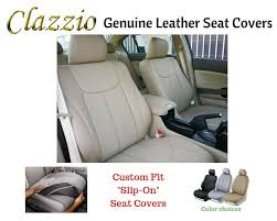 details about clazzio genuine leather seat covers for 2016 2017 honda accord sedan beige