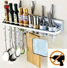 Graces Dawn Aluminum Multipurpose Kitchen Utensils Holder Organizer (No  Drilling)23.5inch Storage Stand