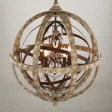 antique lighting globe wooden chandelier led crystal pendant light