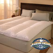 pacific coast bedding eurorest featherbed queen