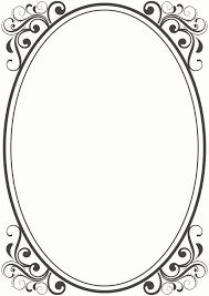 vintage frame design oval. Oval Border Fruit Clipart Vintage Frame Design