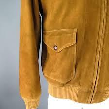 brown rrl by ralph lauren men s 40 tan suede patch pocket er jacket for