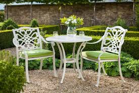 white metal outdoor furniture. Metal Garden Furniture. Hartman Capri Zest Bistro Set White Outdoor Furniture