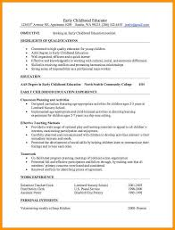 8 Early Childhood Education Resume Precis Format
